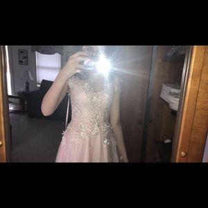 Beautiful pink princess prom dress!!